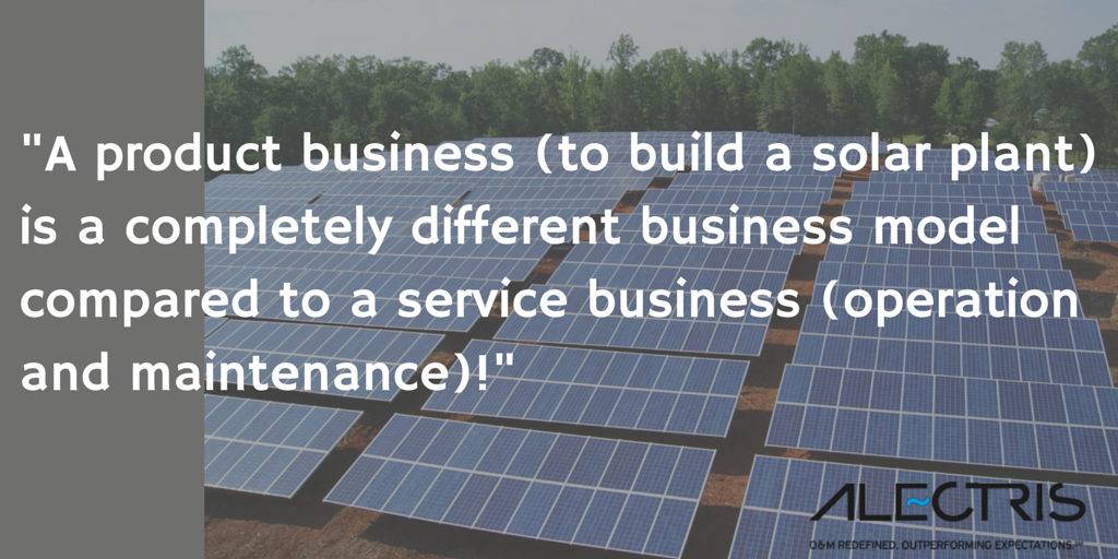 Construction vs service business models in solar pv Alectris T