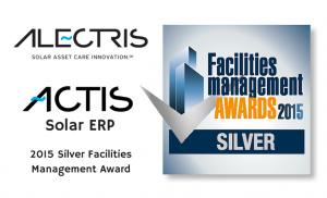 Alectris ACTIS Solar ERP awarded 2015 Silver Facilities Management Award Web