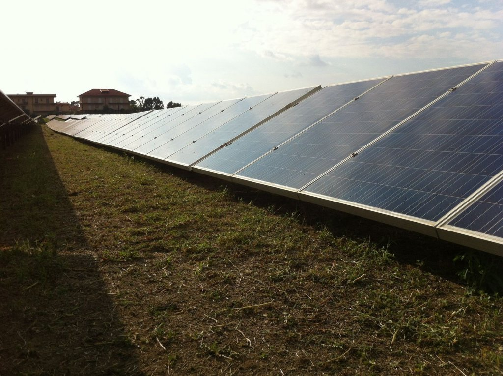 IItalian solar site with MoreSun applied by Alectris