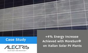 MoreSun improves performance of Italian solar sites Alectris