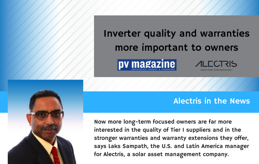 Inverter quality PV Magazine Laks Sampath Alectris