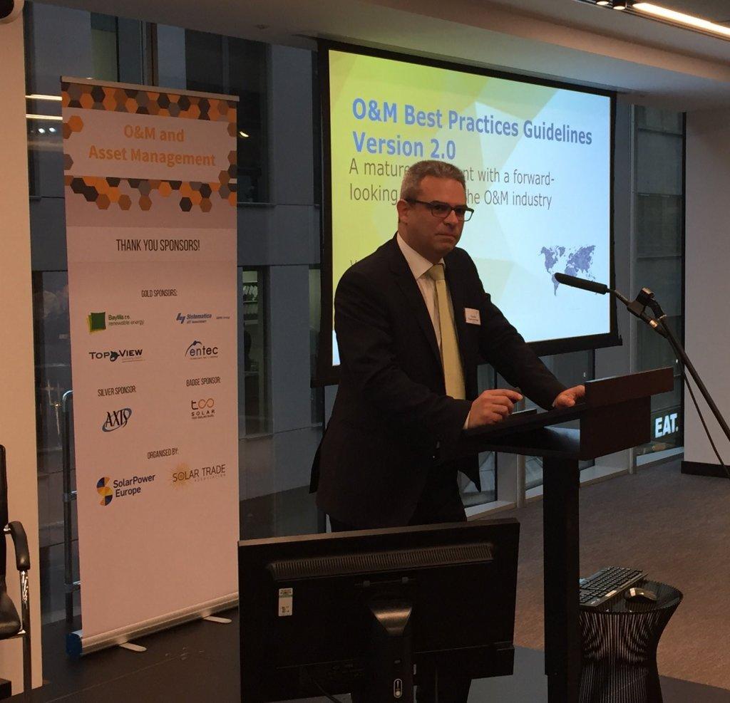 Vassilis Papeconomou of Alectris presenting Solar OM Best Practices Guidelines 2.0