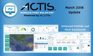 ACTIS World's First Solar ERP March 2018 Update