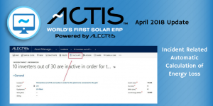 ACTIS World's First Solar ERP April 2018 Update Alectris