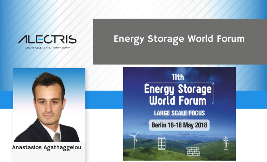 Alectris solar O&M team at Energy Storage World Forum 2018