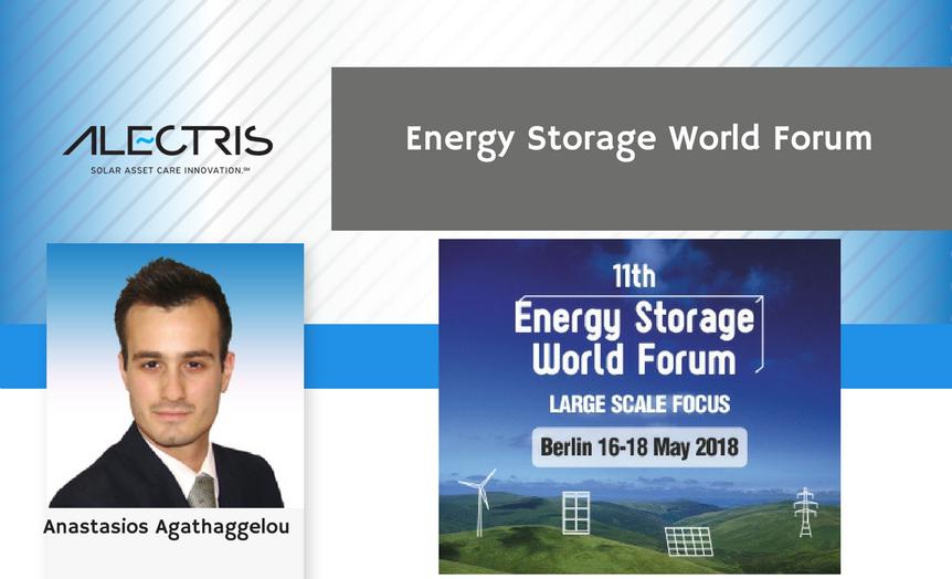 Alectris solar O&M team at Energy Storage World Forum 2018