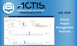 July 2018 ACTIS World's First Solar ERP