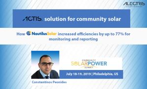 community solar actis erp nautilus solar